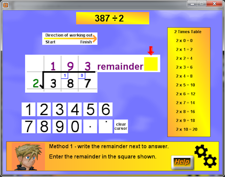 Screen shot of Division Tutor