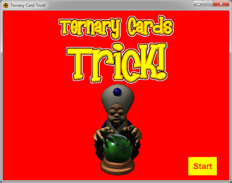 Screen shot of Ternary Card Trick!